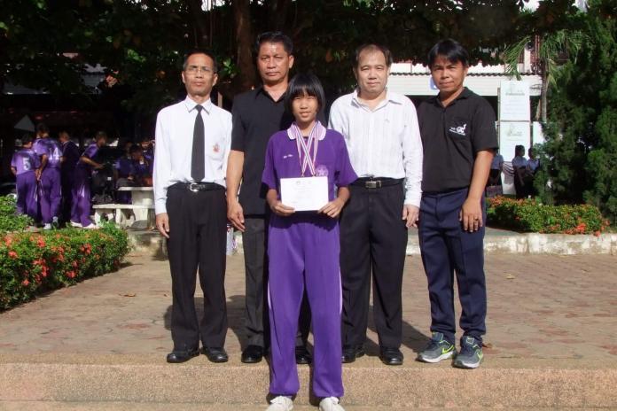 แสดงความยินดีกับรางวัลการแข่งขันกีฬาระหว่างโรงเรียนส่วนภูมิภาคจังหวัดลำพูนประจำปี 256