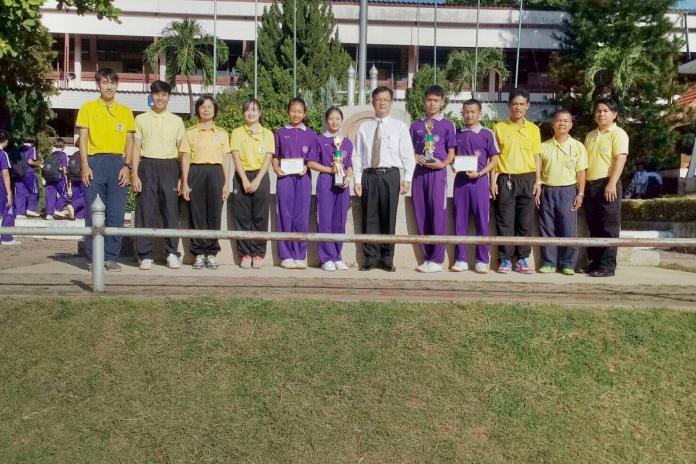 แสดงความยินดีกับนักกีฬาวอลเล่ย์ชายหาด การแข่งขันกีฬานักเรียน นักศึกษาส่วนภูมิภาคจังหวัดลำพูน ปี 2562